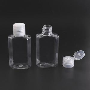 60мл Пустой дезинфицирующее средство для рук Гель для рук бутылки жидкого мыла бутылки Очистить выдавливается Pet Sub Travel Bottle GWF1816