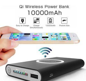 10000mAh banco universal de energía portátil inalámbrica Qi cargador para el iPhone 8 Samsung S6 S7 S8 el Powerbank móviles Cargador de teléfono