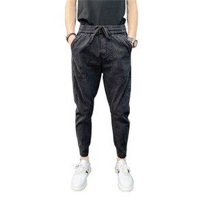 Mens Pants Ankle Comprimento Pants Casual Tendência Todos Calças Jogo Slim Fit Harlan Jeans Verão Fina forma à moda