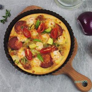 Antiaderente Tart Quiche Flan Pan Stampi Pie Pizza torta rotonda stampo rimovibile allentato inferiore scanalata Pizza Pan Bakeware 8.8 JK1911