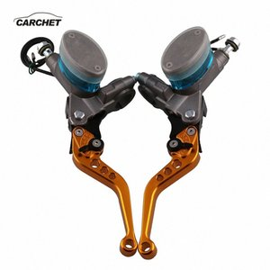 CARCHET 2PCS Motorcycle Accessories left and Right Hydraulic Clutch Hand Brakes Universal Brake Handbrake Levers for MotorBike qnfa#