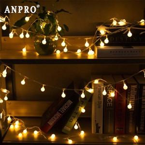 أضواء LED سلسلة 1 .5m 3M 6M الكرز كرات الجنية جارلاند أضواء بطارية تعمل زفاف عيد الميلاد في الهواء الطلق الديكور