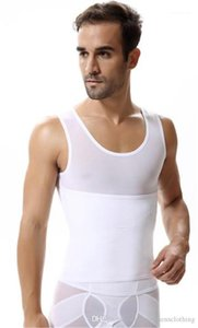 Skinny Vest Sexy Abdomen Tight Mens Underwear Shaping Vests New Arrival Mens Slimming Buckle Body Shapers Fitness