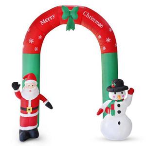 2.4m Yılbaşı Dev Arch Noel Baba Kardan Adam Şişme Bahçe Yard Archway Noel Süsler Noel Festivali Parti Dikmeler Dekor