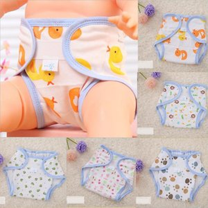 1Pcs Baby Cartoon Washable Diaper Cover Cute Printing Adjustable Baby Nappy Cover Reusable Breathable Infant Diaper