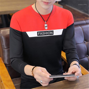 Round Neck Korean New Sweater Male Sports Casual Loose Sweater Hoodies Man Long Sleeved T-shirt Fashion Letter Printing Sweatshirts Designer