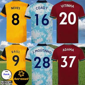 Kinder Kit Wölfe Neves Raul Dritter Fussball Jerseys 2020-21 Adama Diogo J. Coady Neto Poding Doherty Boly J.otto Home Away Football Shirt