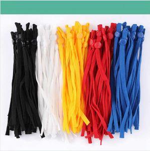 10cm 12cm DIY Mask Sewing Elastic Band Cord with Adjustable Buckle Stretchy Mask Earloop Lanyard Earmuff Rope Making Supplies DDA586