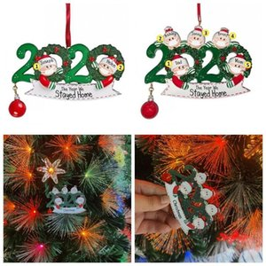 Merry Christmas Hanging Ornament Wood Santa Claus With Mask Family Of 5 Outdoor Tree Decorations Gifts DIY Name Pendant 6 8xf H1 OWC2403