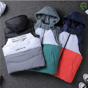 Designer Stylish Warm Sleeveless Winter Jacket Double-sided Zipper Jacket Men Women Loose-fitting Oversize Student Jacket 2092202B