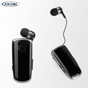 AIKSWE صغيرة محمولة بلوتوث اللاسلكية سماعة المكالمات والأذن تهتز تذكير ملابس كليب حر اليدين سماعة للقيادة