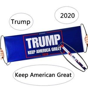 Trump 2020 bandera de la mano Banderas Trump Held mantener a Estados Unidos del presidente de la Gran apoyo de la bandera de doble cara DHA1291