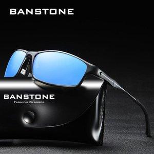 BANSTONE de alumínio e magnésio Homens HD óculos polarizados Sports Driving Goggles Pesca UV400 óculos de sol masculino