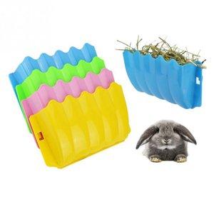 Tavşan Besleyici Saman Çim Bowl Tutucu Kutusu Havuç Küçük Hayvan Kafesi Kobay Hamster Sıçan Besleme Dağıtıcı Oyuncak toptan yüksek kaliteli yeni 2019