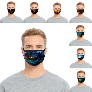 Halloween máscara personalizada Partten Moda 3D Printing Anti-Máscara de poeira respirável lavável reutilizável para Adulto Crianças