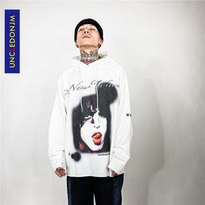 UNCLEDONJM karakter tasarımı hiphop erkek gevşek kapşonlu, harajuku tarzı sweatshirt, erkek NB2067 için moda kapüşonlu