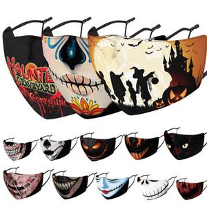 Happy Halloween Gesichtsmaske für Erwachsene Designer Gesichtsmasken Schädelkopf geizig geizig PM2.5 Staubschutz 3D-Maske