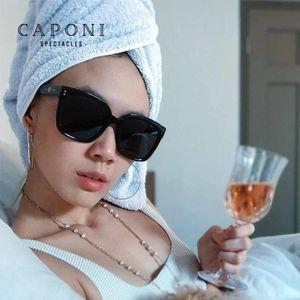 CAPONI suave Jennie KUKU 01 gafas de sol de gran tamaño Mujeres 2020 Nueva Gafas de sol ojo de la manera de gafas retro para mujeres y hombres CP7453