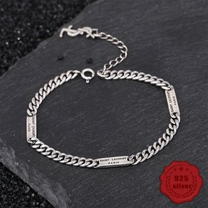 S925 silver girl bracelet personality simple jewelry retro fashion student letter modeling birthday gift 2019 hot sale Bracelets