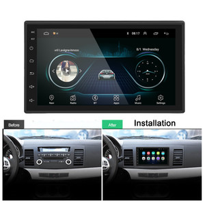 "FreeShipping 2 din Car Radio 2.5D GPS Android Multimedia Player Universal 7"" audio Navigation For Volkswagen Nissan Hyundai Kia Toyota"