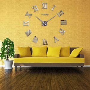 Horloges modernes Diy cadeau autocollant Grand mur 130 Homedecoration Nouveau Miroir design unique Taille Big 2020 Clock mhhgl garden_light