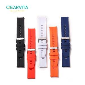 22mm SmartWatch Montre bande en cuir Bracelet en silicone pour DT N ° 1 DT78 tracéologique L15 L13 L16 intelligent Watchband Femmes Hommes Bandeaux