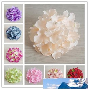 50PCS 20CM 20Colors Artificial Hydrangea Decorative Silk Flower Head For DIY Wedding Wall Arch Background Scenery Decoration Accessory Props