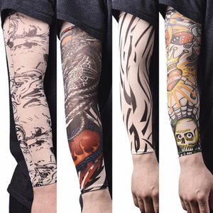 New Arrival Nylon Tatoo Arm Stockings Arm Warmer Cover Elastic cheap Temporary Fake Tattoo Sleeve Art Design Kit Unisex Gift