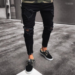 Jeans 19AW Mens Designer Jeans Casual Ripped Distressed Skinny Long Pencil Jeans New Street Style Mens