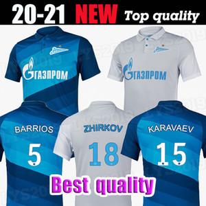 20 21 FC Zenit Saint-Pétersbourg Jersey de football Home Away Blue Grey Malcom Nurren 2020 2021 Santos Barrios Football Shirt Maillots de pied