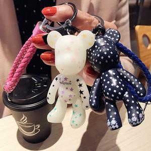 2020 Fashion New Brand rubber Gloomy Bear Keychain Keyring For Women Bag Car Key Chain Trinket Jewelry Gift Souvenirs Llavero