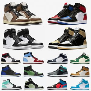 nike air jordan 1 air retro travis scott 1 Bred Toe jumpman 1 Mens Basketball shoes shattered Backboard UNC 1s Gold Top 3 cactus jack Banned Men Women trainers Sports Sneakers