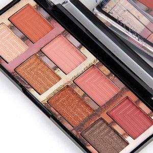MISS ROSE 4PCS Set Matte Shimmer 8 Colors Eyshadow Powder Palette Contour Pressed Pigment Makeups