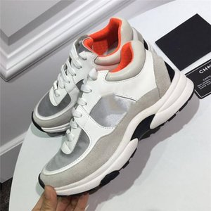 Rencontres artefacts pour hommes Chaussures Casual Chaussures Coussins Designers Nuit Club Sneakers Advanced Matériau Brown Or Blanc Blanc LTS01