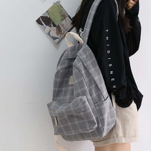 Fashion Girl College School Bag Casual New Simple Ladies Backpack Striped School Bag Youth Travel Backpack Rucksack