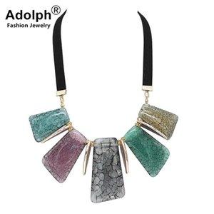 Pelle ADOLPH Moda strass collana Choker geometria Pendente 2020 Nuovo lavoro manuale Boho Dichiarazione Neckalces donna CALDO