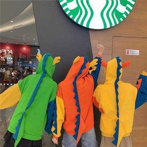 Cartoon Ear Hooded Patchwork Contrast Sweatshirt Pullover Hoodies Women Loose Harajuku Oversized Korean Lolita Plus Size