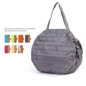 Mabula Экологичный сумок Большой моющийся многоразовый Бакалея Tote сумки Японский складной водонепроницаемый путешествия Бакалея сумка 200919