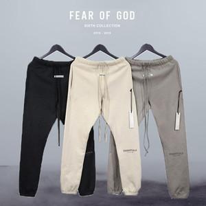 FOG temor de Dios Pantalones Esencial 3M Reflexiones a pantalones algodón de abrigo de invierno Ropa de deporte chándales aptitud de los hombres casual color sólido