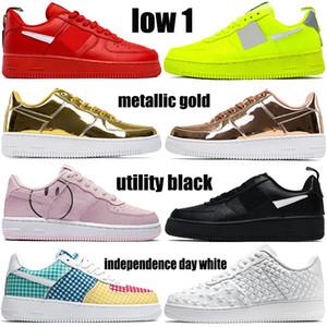 2020 novos sapatos baixos 1 mens basquete CNY equipe utility volt vermelho metálico ouro tartan trigo branco jumpman negros homens as sapatilhas das mulheres
