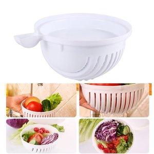 Practical 60 -Seconds Salad Maker Cutter Bowl Fruit Vegetable Washer Salad Cutter Easy Salad Maker Fruit Vegetables Chopper Bowl Kitchen Nb