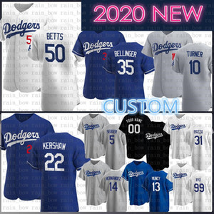 Personalizzato 2020 Cody 35 Bellinger Nuova Mookie 50 Betts baseball Jersey Clayton Kershaw 22 Justin Turner 10 Mike Piazza 31 Enrique Hernandez 14