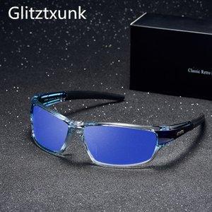 Glitztxunk Солнечные очки Мужские поляризованные вождения Спортивные солнцезащитные очки для мужчин Женщины площади Цвет Зеркало Дизайнер óculos