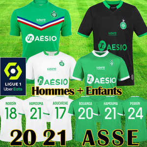 20 21 maillot Camisetas de fútbol AS Saint Etienne 2020 2021 maillot ASSE Etienne KHAZRI CABELLA BERIC NORDIN HAMOUMA Equipo de camisetas de fútbol