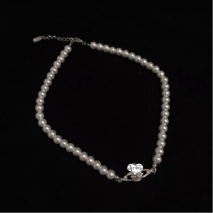 New boutique ladies pendant full of diamonds Saturn pearl necklace clavicle chain neck chain love gift clothing accessories free shipping