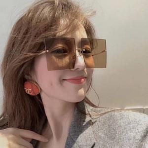 Square Frameless Metal Sunglasses Women Vintage Fashion Rimless Sun Glasses Luxury Eyeglasses Gafas De Sol De Los Hombres