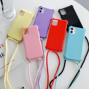 Ins Influencer Cell Phone Case for IPhone XS XR 6 7 8plus 11 Pro MAX Multi-color Covers For Samsung Phone Cover With Lanyard