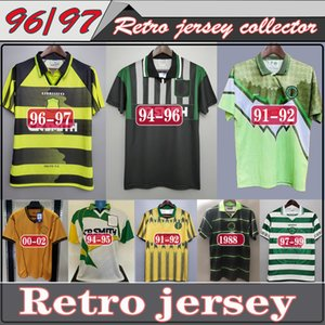1994 1996 06 08 Celtic Retro Soccer Jerseys 1991 1992 1998 1999 chemises de football classique LARSSON Vintage 1995 Sutton 1997 kits de football top