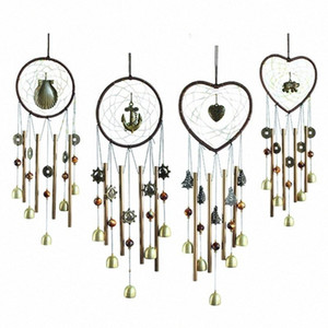 Dreamcatcher Metal Boru Bell Rüzgar Chime Asma kalp şeklinde Craft kolye Home For Kapı Dekorasyon Kardan Adam Dekorasyon Best Chris y0Ub #