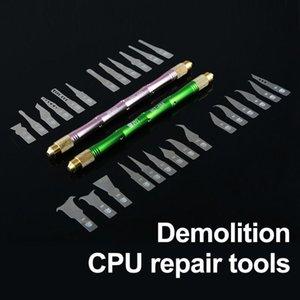 27 em 1 BGA Manutenção Knife Set Para CPU NAND chip IC Retirar Glue Desmonte Rework fina lâmina Facas DIY Ferramentas de reparo